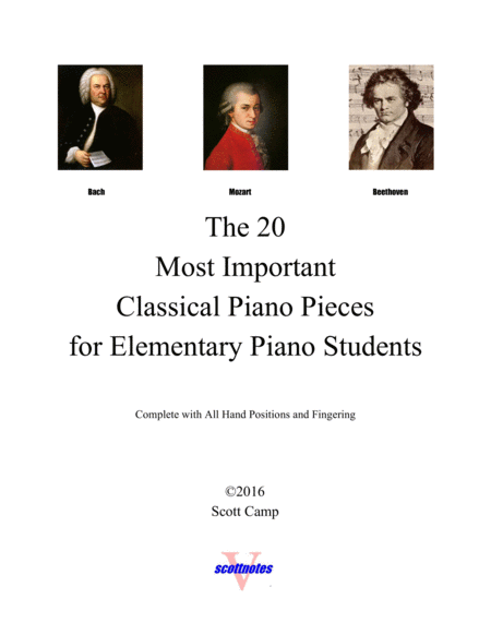 20 Classical Piano Pieces For Elementary Piano Students With All Piano Fingering