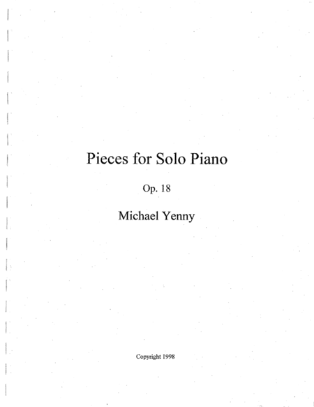 9 Pieces For Piano Op 18