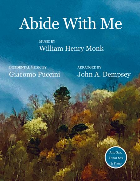 Abide With Me Trio For Alto Sax Tenor Sax And Piano
