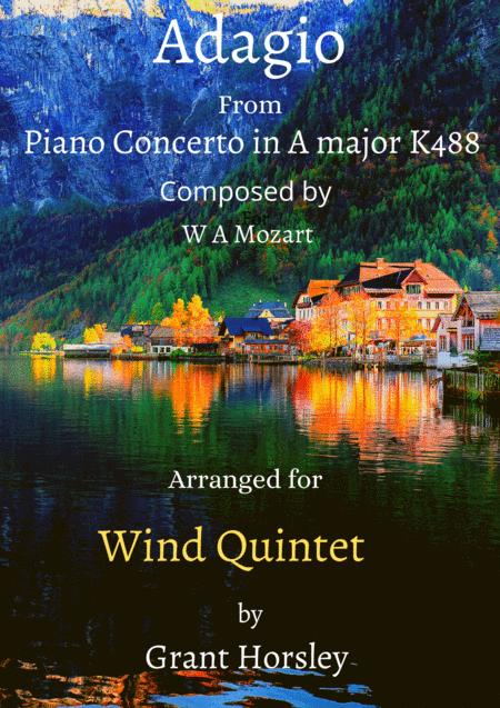 Adagio From Piano Concerto In A Major K488 Mozart Arranged For Wind Quintet