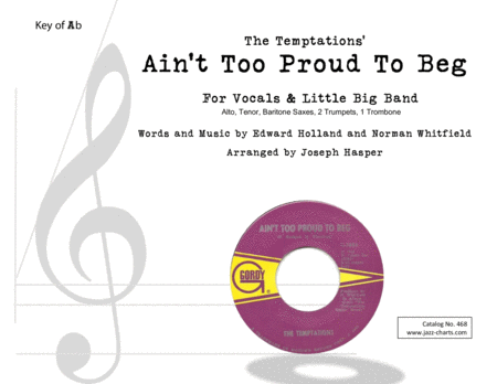 Aint Too Proud To Beg Vocal And Little Big Band
