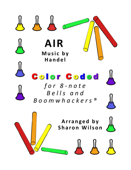 Air For 8 Note Bells And Boomwhackers With Color Coded Notes