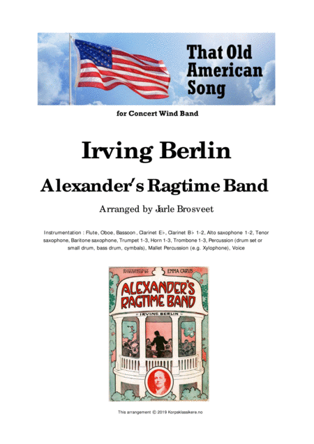 Alexanders Ragtime Band For Concert Wind Band