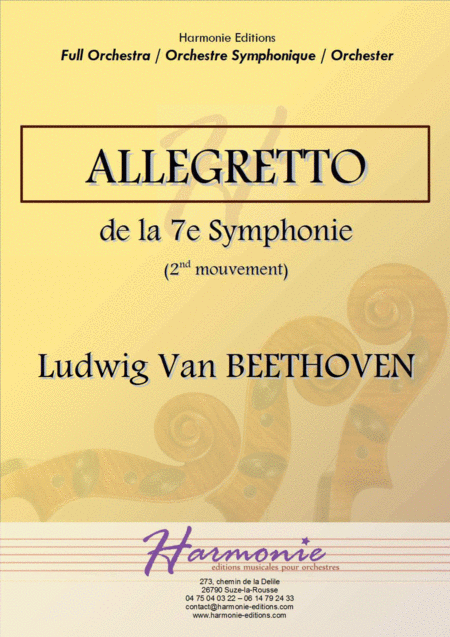 Allegretto Second Movement From The Symphony N 7 Ludwig Van Beethoven