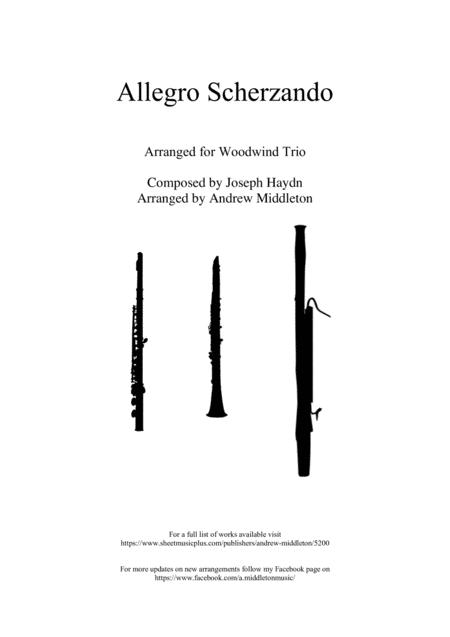 Allegro Scherzando Arranged For Woodwind Trio