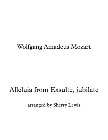 Alleluia From Exsulte Jubilate Duo For String Duo Woodwind Duo Any Combination Of A Treble Clef Instrument And A Bass Clef Instrument Concert Pitch