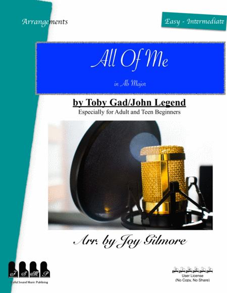 All Of Me In Ab Major Easy Piano Arrangement Free Lifetime New Version Upgrade Free Paper Keyboard Available
