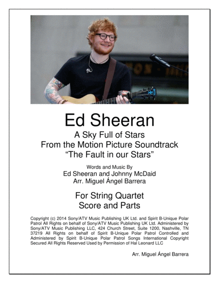 All Of The Stars String Quartet Ed Sheeran