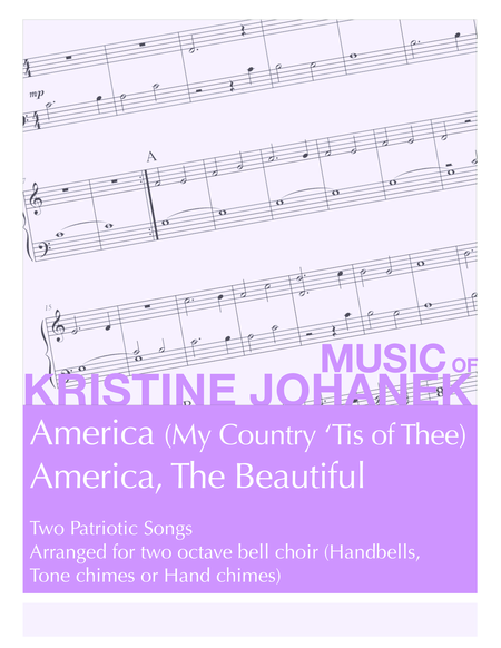 America America The Beautiful 2 Octave Handbells Tone Chimes Or Hand Chimes