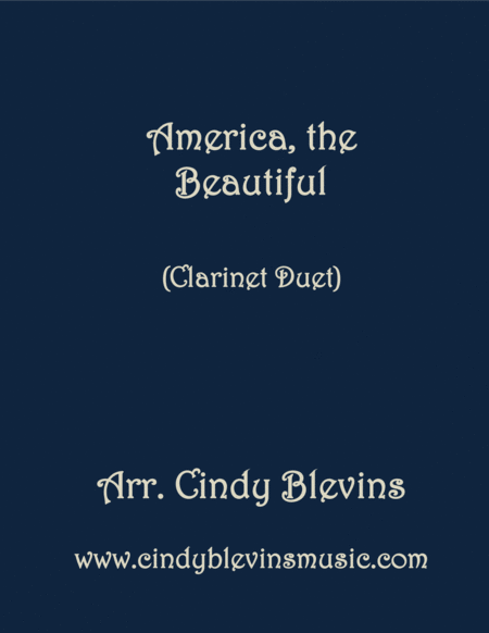 America The Beautiful Arranged For Clarinet Duet
