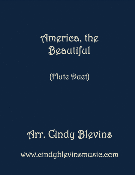America The Beautiful Arranged For Flute Duet