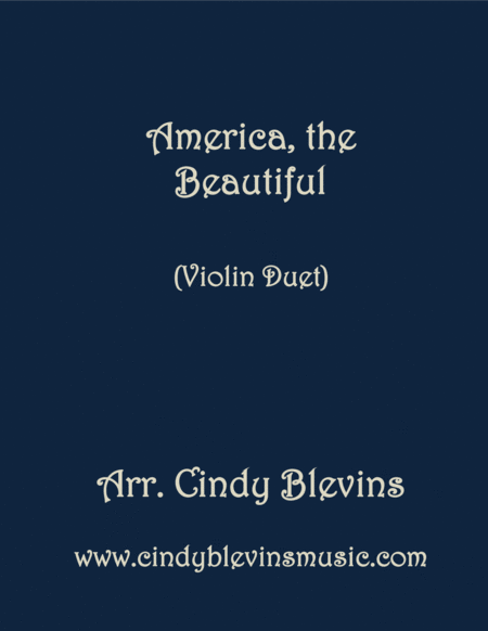America The Beautiful Arranged For Violin Duet