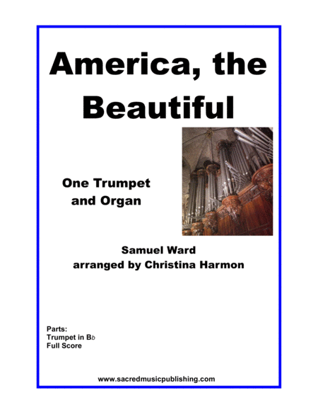 America The Beautiful One Trumpet And Organ