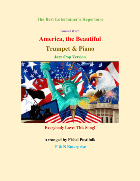 America The Beautiful Piano Background For Trumpet And Piano