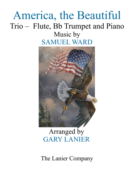 America The Beautiful Trio Flute Bb Trumpet And Piano Score And Parts
