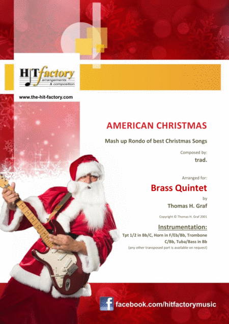 American Christmas Mash Up Rondo Of Best Christmas Songs Brass Quintet