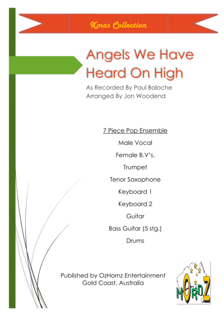 Angels We Have Heard On High Dance Beat Male Vocal 2 Horns 5 Rhythm