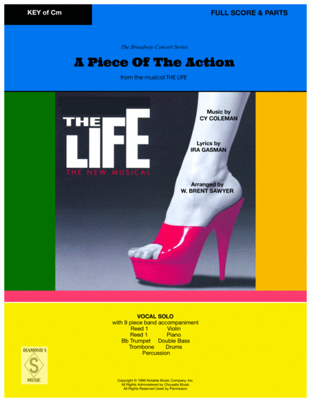 A Piece Of The Action From The Musical The Life Vocal Solo And 9 Piece Band Full Score Parts