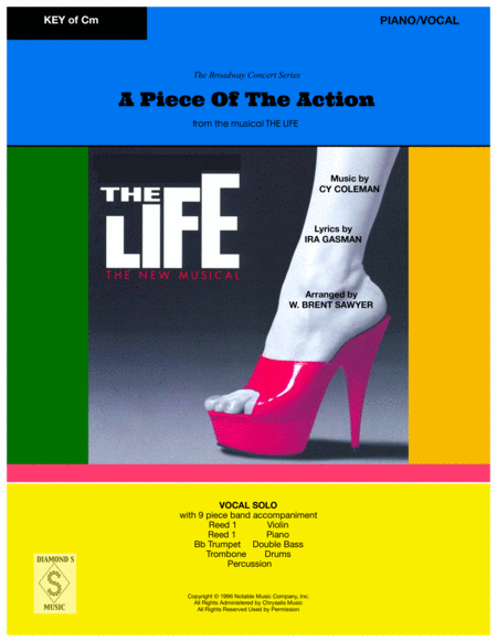A Piece Of The Action From The Musical The Life Vocal Solo And 9 Piece Band Piano Vocal Part
