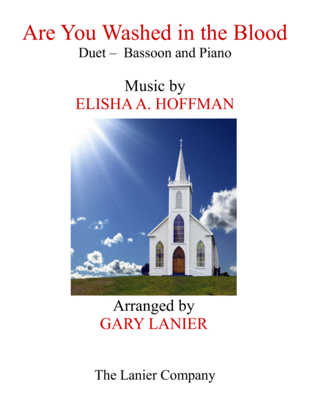 Are You Washed In The Blood Duet Bassoon Piano With Score Part