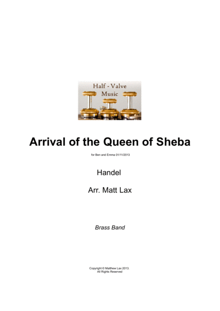 Arrival Of The Queen Of Sheba Brass Band