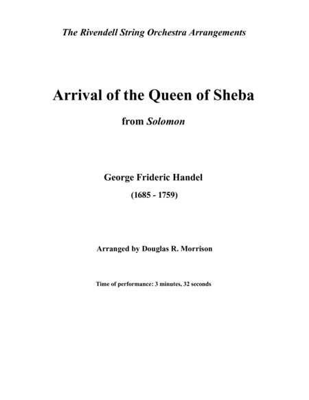 Arrival Of The Queen Of Sheba From Solomon