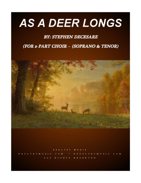As A Deer Longs For 2 Part Choir Soprano Tenor