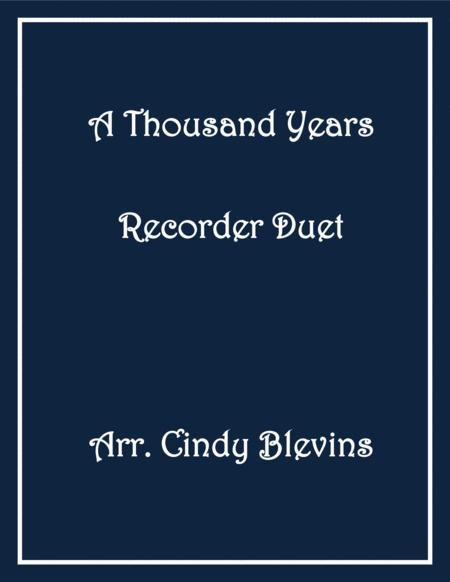 A Thousand Years Recorder Duet
