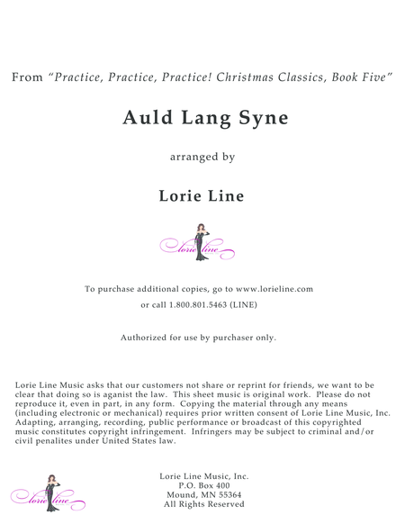 Auld Lang Syne Easy