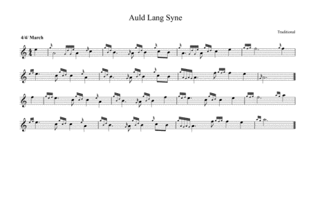 Auld Lang Syne For Bagpipes