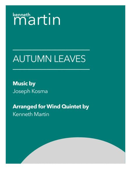 Autumn Leaves Jazz Arrangement For Wind Quintet