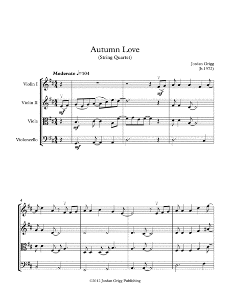 Autumn Love String Quartet