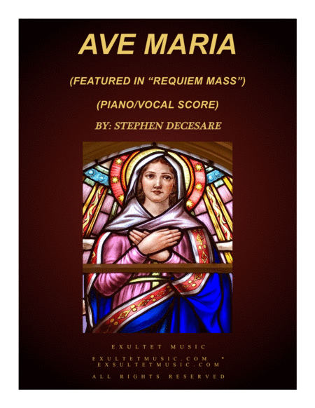 Ave Maria From Requiem Mass Piano Vocal Score