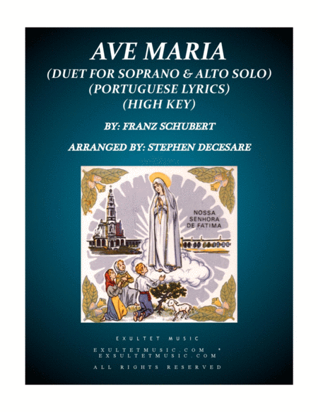 Ave Maria Portuguese Lyrics Duet For Soprano And Alto Solo High Key