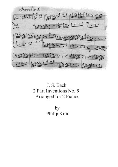 Bach 2 Part Inventions No 9 For 2 Pianos