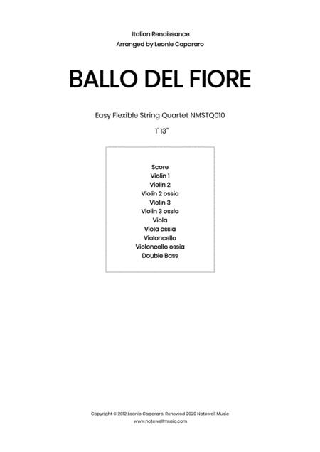 Ballo Del Fiore Flexible String Quartet Ensemble