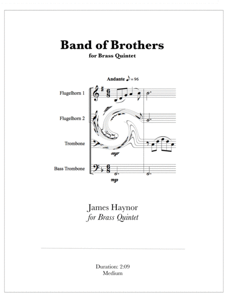 Band Of Brothers Opening Theme For Brass Quartet