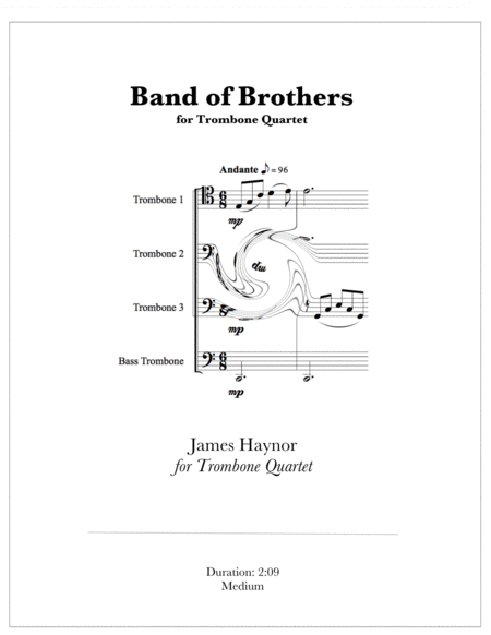 Band Of Brothers Opening Theme For Trombone Quartet