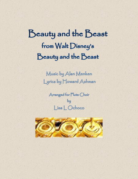 Beauty And The Beast From Walt Disneys Beauty And The Beast For Flute Choir