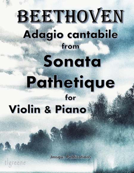 Beethoven Adagio From Sonata Pathetique For Violin Piano