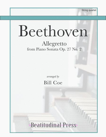 Beethoven Allegretto String Quartet Score And Parts