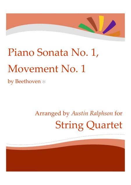Beethoven Piano Sonata No 1 Opus 2 No 1 1st Movement String Quartet