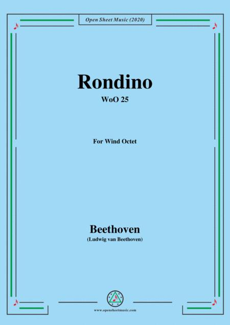Beethoven Rondino In E Flat Major Woo 25 For Wind Octet