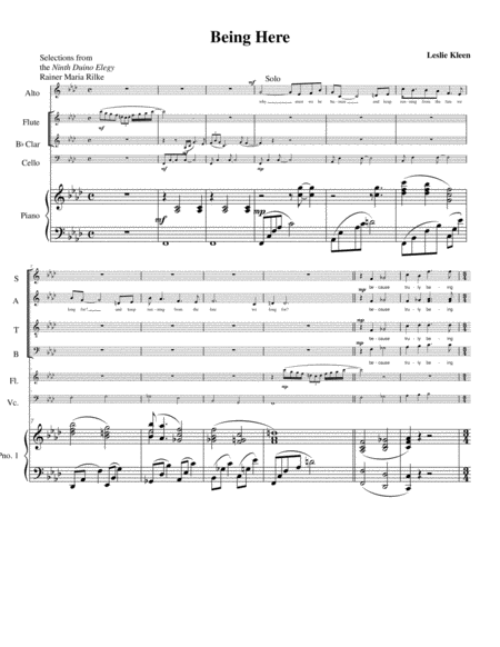 Being Here Piano Score