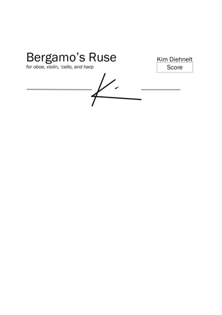 Bergamos Ruse For Oboe Violin Cello And Harp Score