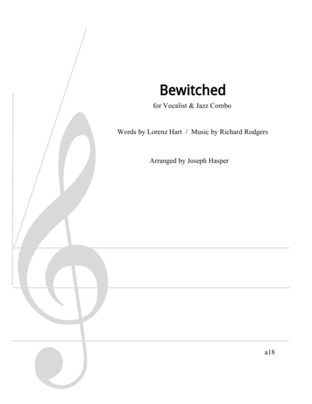 Bewitched Vocal With Jazz Combo