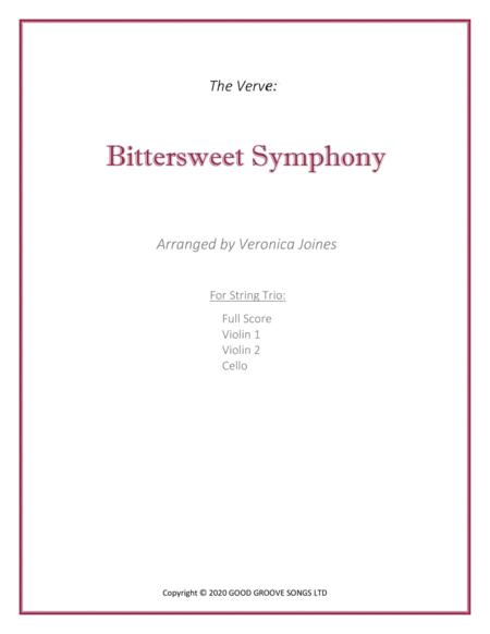 Bittersweet Symphony For String Trio Violin 1 2 Cello