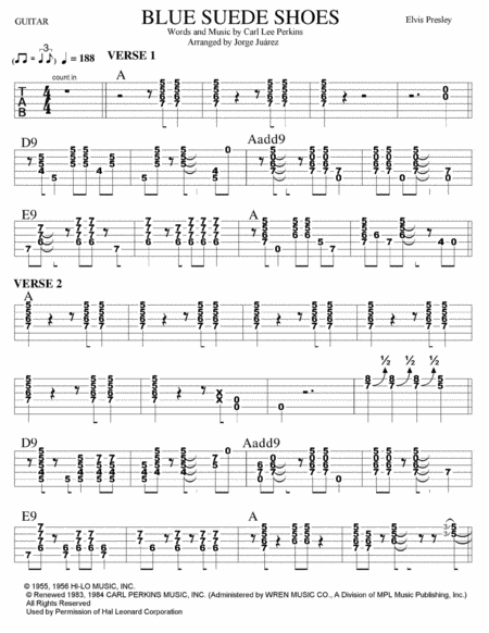 Blue Suede Shoes Guitar Tab