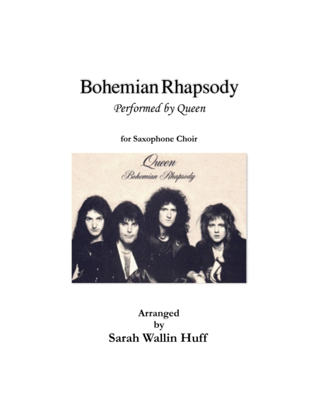 Bohemian Rhapsody Arr For Sax Choir