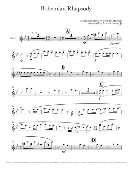 Bohemian Rhapsody Complete Band Arrangement